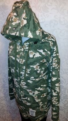 ECKO UNLIMITED CAMO Green L/S Hoodie Sweatshirt Men's Cotton Blend Large $…