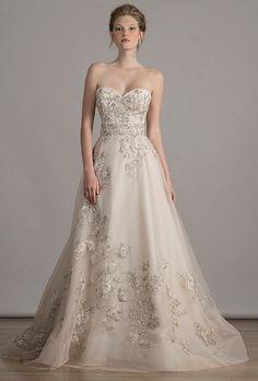 Trend: Embellished  Liancarlo Wedding Dresses - Spring 2016 - Bridal Runway Shows - Brides.com