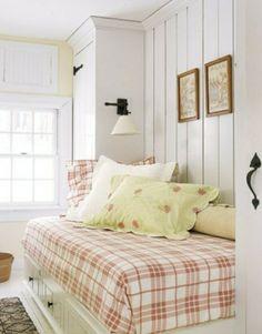 rosa-Karo-Bettdecke-Dekoration-Schlafzimmer-klein