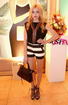 Actress Peyton List attends the JustFab Launch of Ready-To-Wear at Sunset Tower on April 1, 2015 in West Hollywood, California.
