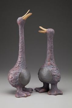 Sharon Stelter - Stoneware Sculpture — Blue Dolphin House and BDH Studio Clay Birds, Ceramic Birds, Ceramic Animals, Clay Animals, Ceramic Art, Pottery Sculpture, Bird Sculpture, Animal Sculptures, Ceramica Artistica Ideas