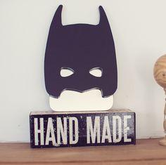 Décoration chambre d'enfant : miroir mural Super Héro Batman, en valchromat, bois résistant
