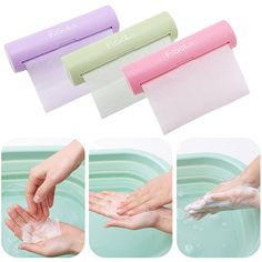 IPRee® Portable 1.2m Paper Soap Outdoor Hand Washing Bath Scented Slice Sheets Foaming Box Paper