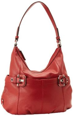 Tignanello Women's Ellie T87010 Hobo,Glam Red,One Size