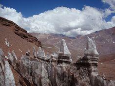 Penitentes, los Andes, entre Argentina y Chile