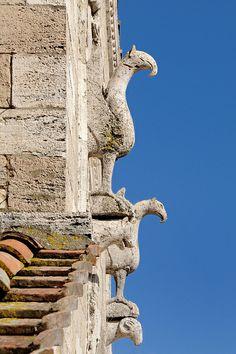 Collegiata di Santa Maria at Lugnano, #Umbria, Italy - tipiche figure medievali sulla facciata (photography by bruno brunelli, via Flickr) animal figures on the 11th century facade #Romanesque