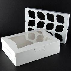 "Window Cupcake Box with Insert 14"" x 10"" x 4"" - 10 / Pack"