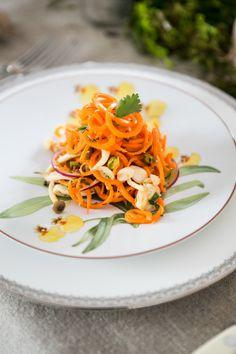 Carrot & Mushroom Salad with Lemon Vinaigrette.