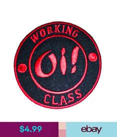 Embellishments & Finishes Working Class Oi Punk Rockabilly Iron On Embroidered Patch Applique - 107 #ebay #Home & Garden
