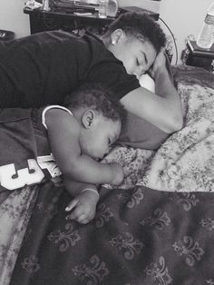 Chresanto August (formerly known as Roc Royal from Mindless Behavior) and his son, Royal 2015