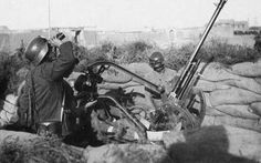 Chinese troops manning an Italian-made Breda Model 35 anti-aircraft gun, Shanghai, China, 1937, pin by Paolo Marzioli