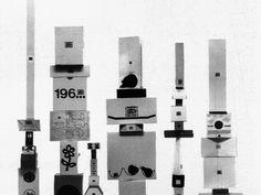 Enzo Mari, Bruno Munari, Scatole e imballaggi di prodotti Danese, 1959-70.