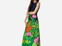 Vintage Lee Stevens Jungle Print Dress by MaevenOnEtsy on Etsy, $85.00