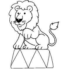Coloriage Cirque Lion