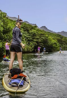 Stand up paddle boarding is one of the great Kauai Adventures! Don't miss participating in fun Kauai adventures when visiting the Garden Island. Kauai Vacation, Hawaii Travel, Dream Vacations, Beach Travel, Sup Stand Up Paddle, Kayak Paddle, Outdoor Reisen, Best Fishing Kayak, Kayaking Tips