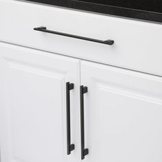 Richelieu Hardware Contemporary in. mm) Matte Black Cabinet - The Home Depot Black Cabinet Hardware, Drawer Hardware, Kitchen Cabinet Hardware, Kitchen Handles, Kitchen Cabinet Design, Kitchen Cabinets, Kitchen Flooring, Taupe Kitchen, Houses