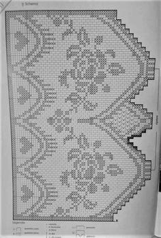 Crochet Edging Patterns, Crochet Borders, Crochet Curtains, Drops Design, Diy And Crafts, Mandala, Handmade, Crochet Table Runner, Dish Towels