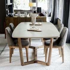 Silla Ginger Pana Jaguar Gris - DecoGallery Furniture, Interior, Dinning Chairs, Dining Table, Table, Home Decor, Dining Room Decor, Dining Chairs, Furniture Design