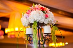 Candelabras with Floral Topper from RSVP Events.