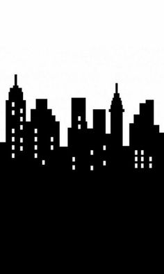 nyc skyline outline new york city skyline silhouette vinyl wall art sticker outline diy. Black Bedroom Furniture Sets. Home Design Ideas