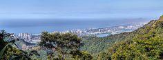 Barra da Tijuca e Recreio vistos do Alto da Boa Vista... Rio de Janeiro, Brasil.