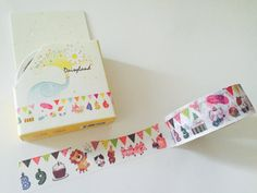 Birthday Circus Boxed Washi Tape by GoatGirlMH on Etsy