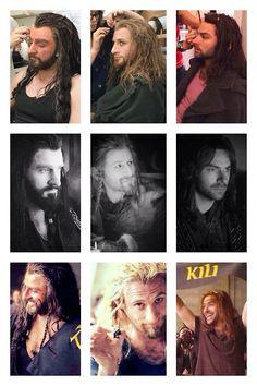 The Hobbit Cast:  • Richard Armitage • Dean O' Gorman • Aidan Turner A. k. a. The cuties of the cast