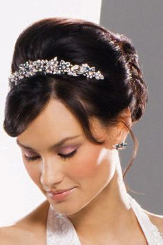 updo hairstyles with tiara
