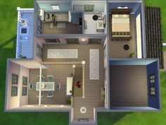 Mod The Sims - Bolzenschneider ‒ Sims 3 Houses Plans, House Plans, The Sims, Sims House Design, Sims 4 Build, Empty Room, Home Design Plans, Floor Plans, Layout