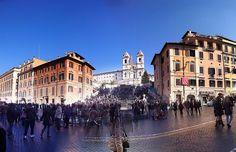 Spanish Steps & Piazza di Spagna, via Flickr.