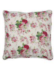 Vintage chintz floral print pillow