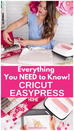 Cricut EasyPress Wild Rose Bundle - Sweet Red Poppy - Scrapbook papercraft - Everything You Need to Know about the Cricut EasyPress 2 in Rose Available Exclusively from JOANN - Circuit Projects, Vinyl Projects, Diy Crafts To Sell, Diy Crafts For Kids, Handmade Crafts, Cricut Air 2, Cricut Craft Room, Craft Rooms, Cricut Tutorials