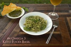 Basil. Even I underestimated the power of herbs when I think of Omega 3's.  88mg per ounce of omega-3. 20mg omega-6.  Click HERE to find a tasty recipe filled with basil.