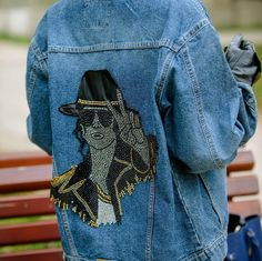 Michael Jackson Denim Jacket Womens Jean Jacket for Casual | Etsy Types Of Jackets, Jackets For Women, Jacket Types, Men's Jackets, Japanese Bomber Jacket, Michael Jackson Jacket, Harley Quinn, Nasa Jacket, Tommy Hilfiger Jackets
