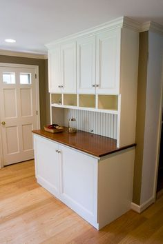 This is a cabinet we built in a kitchen remodeling job to enclose a washer and dryer.