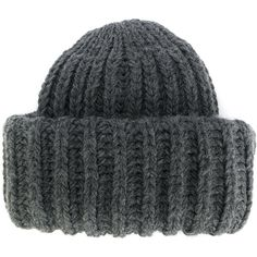 Federica Moretti ribbed knit beanie (4.275 RUB) ❤ liked on Polyvore featuring accessories, hats, grey, grey beanie, beanie hats, ribbed knit hat, rib knit hat and beanie cap hat