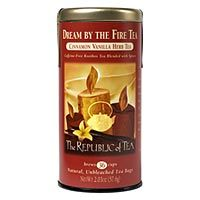 Dream By The Fire Tea - Sweet vanilla and warm cinnamon are blended with caffeine-free rooibos to keep you and your loved ones toasty. #tea #holiday