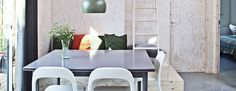 Cool, Compact and Stylish Allotment House - Nordic Design Allotment, Scandinavian Home, Nordic Design, Beautiful Homes, Compact, Dining Table, Stylish, Simple, Wood