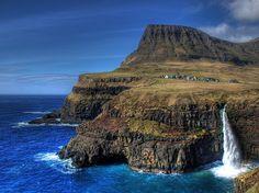Gásadalur. Faroe Islands.