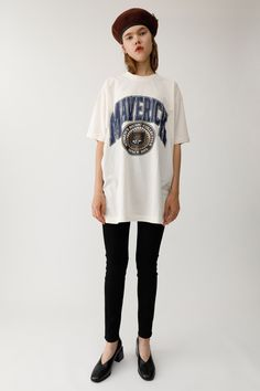 MAVERICK Tシャツ|MOUSSY|SHEL'TTER WEB STORE Alexa Chung, Spring Fashion, Print Patterns, Cool Style, Summer Outfits, Spring Summer, College, Graphics, Street Style