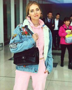 #ChiaraFerragni #TheBlondeSaladGoesToJapan #ChiaraFerragni_Style #closet #GUCCI #Embroidered #Fur-Lined #Denim #Jacket #sexygirl #BlondSalad