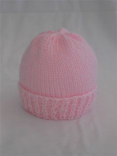 Child Knitting Patterns Simple New child Hat Knitting Sample Knit with Straight Needles OR Double Pointed Needles Free sample for charitable functions and perso. Baby Knitting Patterns Supply : Easy Newborn Hat Knitting Pattern Knit with Baby Hat Knitting Patterns Free, Baby Hat Patterns, Baby Hats Knitting, Easy Knitting, Crochet Patterns, Free Pattern, Easy Knit Hat, Charity Knitting, Knitting Needles