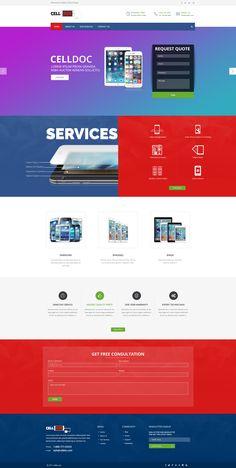 Cell Doc Webpage Design #design #rabbit #pixel #rabbixel #graphic #design #graphicdesign #artwork #website #websitedesign #designing