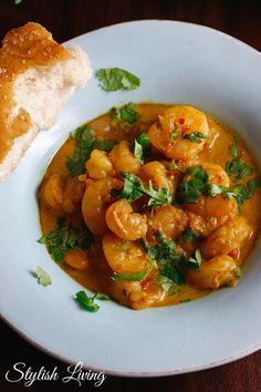 Curry mit Garnelen