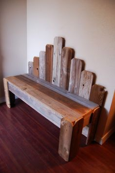 Various wood scraps can become something like this bench!  :)