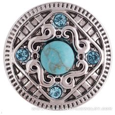 Mexico City Diamond Turquoise Snap