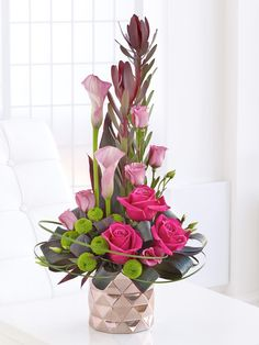 Pink Rose and Calla Lily Arrangement - Interflora
