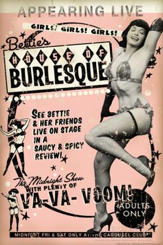 Bettie Page House of Burlesque by Retro-A-Go-Go Poster Premium Poster 819b012ef