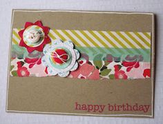 Birthday card - with buttons.