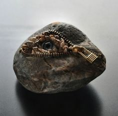 Ordinary Rocks That Rock The Art World With Zippers And Dentures!  Hirotoshi Ito